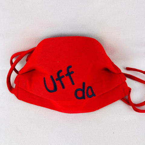 Uff Da Red face mask