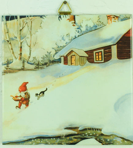 "6"" Ceramic Tile, Tomte in Snow"