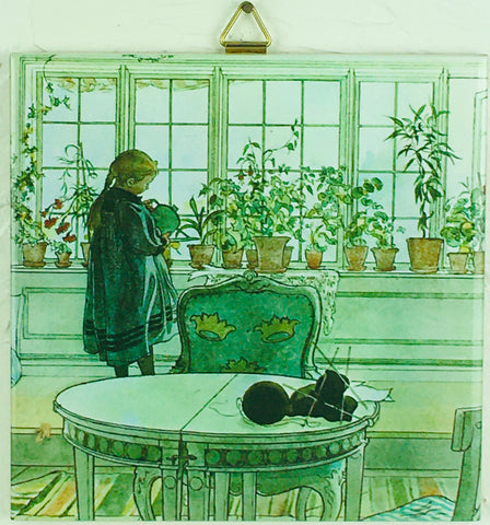"6"" Ceramic tile, Carl Larsson, Flower Window"