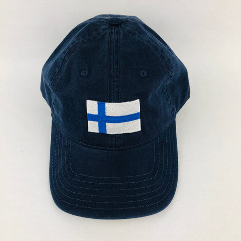 Finland flag navy baseball cap