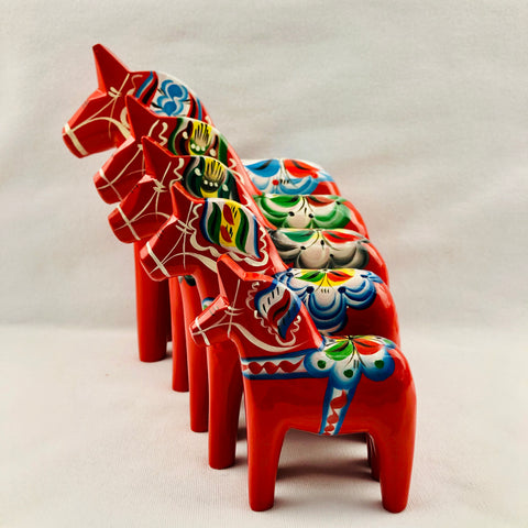 "Traditional ""red"" wooden Dala horse"
