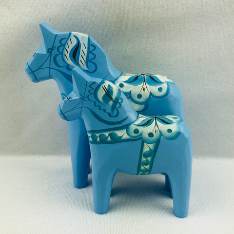 Baby Blue wooden Dala horse **2 LEFT**
