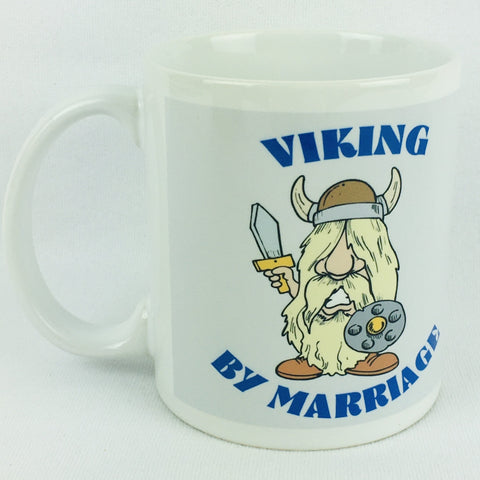 Viking by Marriage coffee mug