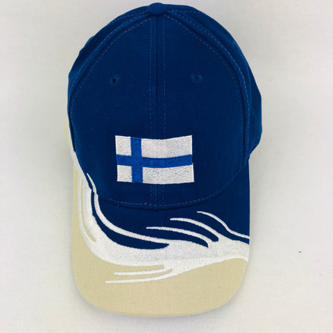 "Finland flag ""wave"" baseball cap"