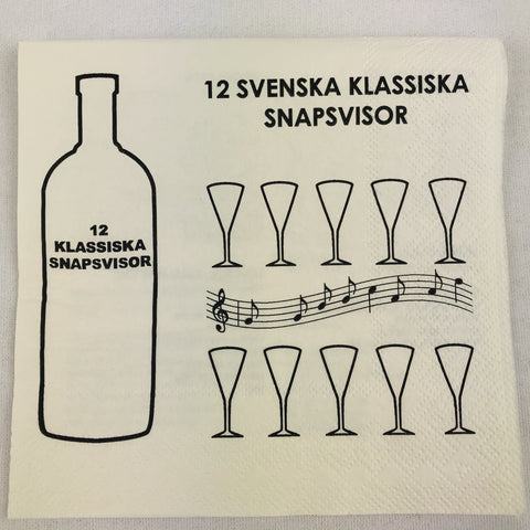 Swedish Drinkins songs paper napkins