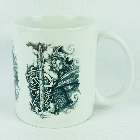 Viking with Runes, Micah Holland coffee mug