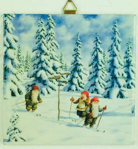 "6"" Ceramic Tile, J BergerlindSkiing Tomtar"