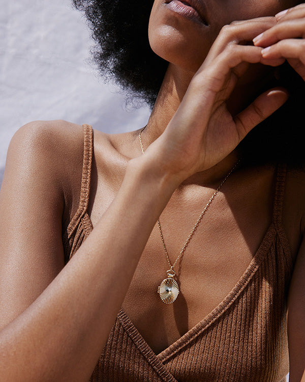 Bryan Anthonys Rays of Hope Necklace on Model