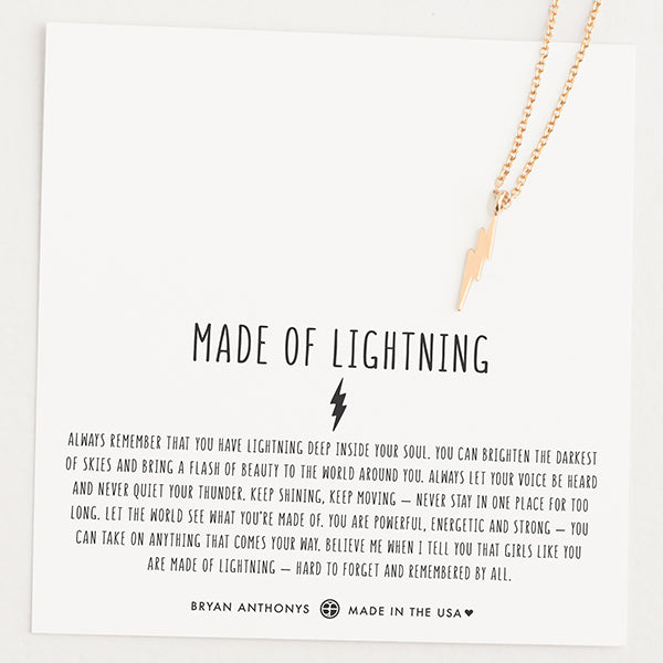 Made of Lightning Necklace