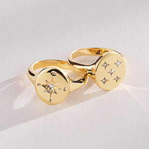 Gold Finish Rings