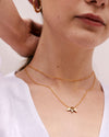 Bryan Anthonys MILESTONE GOLD CHOKER STRENGTH IN NUMBERS GOLD NECKLACE ON MODEL