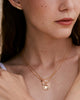 Bryan Anthonys FAMILY GOLD NECKLACE BEAUTIFULLY BROKEN EARRINGS ON MODEL 2