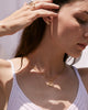 Bryan Anthonys FAMILY GOLD NECKLACE BEAUTIFULLY BROKEN EARRINGS SOUL SISTER RING SELF LOVE RING ON MODEL