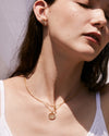 Bryan Anthonys FAMILY GOLD NECKLACE BEAUTIFULLY BROKEN EARRINGS ON MODEL