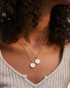 Bryan Anthonys FAITH OVER FEAR NECKLACE MINDFUL MESSAGES MODEL SHOT LAYERED