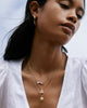 Bryan Anthonys Beautifully Broken Necklace Gold with Crystal Necklace On Model