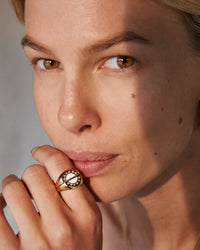 Bryan Anthonys YOU ARE MY SUNSHINE RING SET ON MODEL CLOSE UP