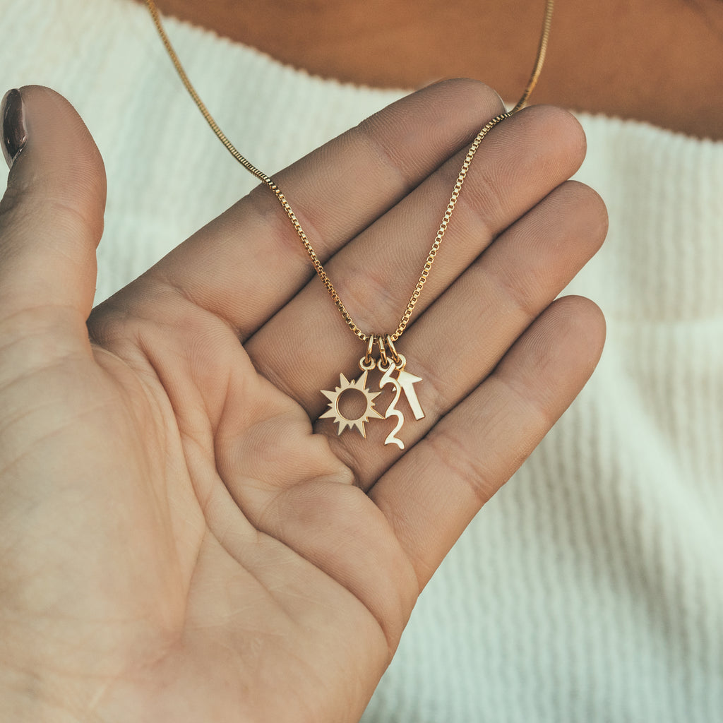 Go With The Waves Necklace Charm