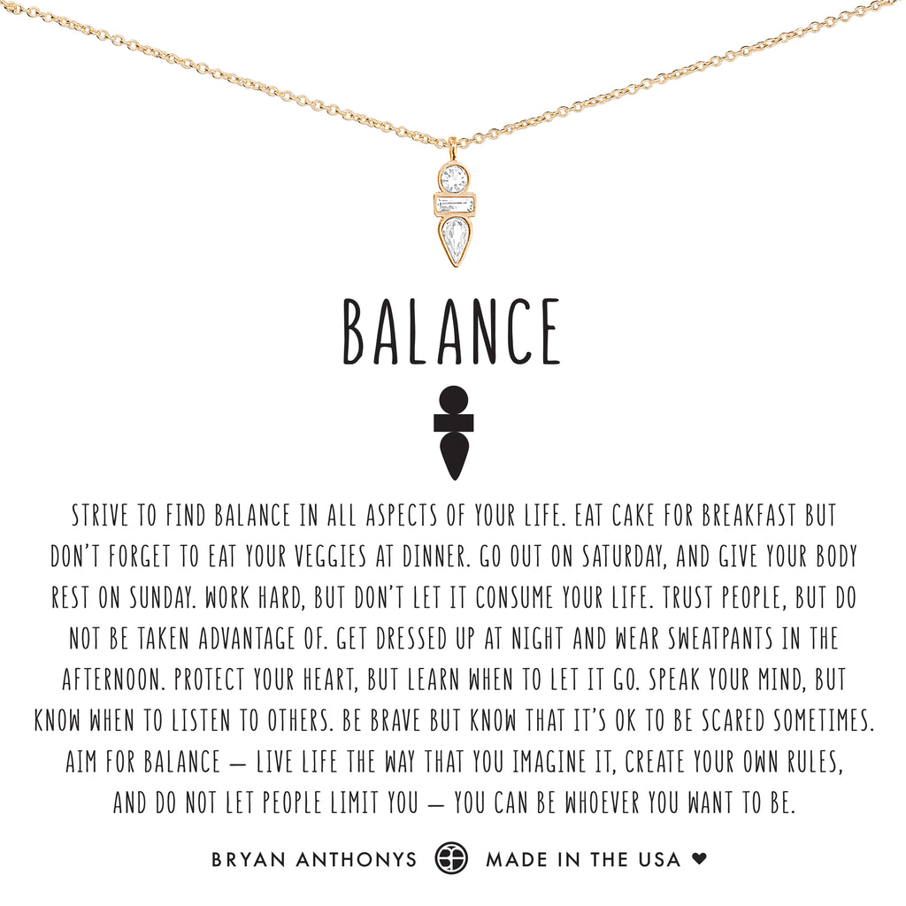 Bryan Anthonys Dainty Balance Necklace 14k Gold