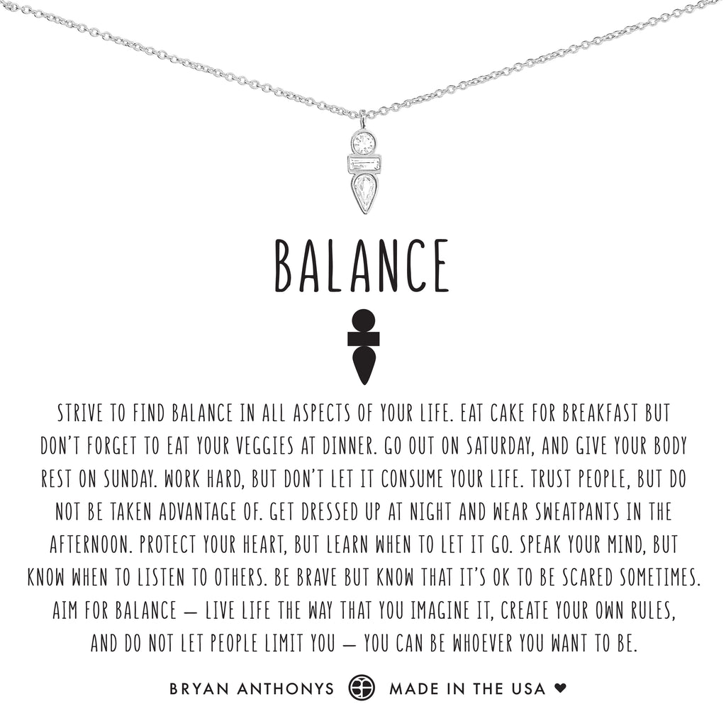 Bryan Anthonys dainty balance necklace silver