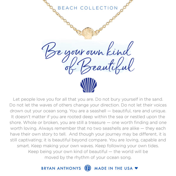 Bryan Anthonys seashell anklet be your own kind of beautiful 14k gold