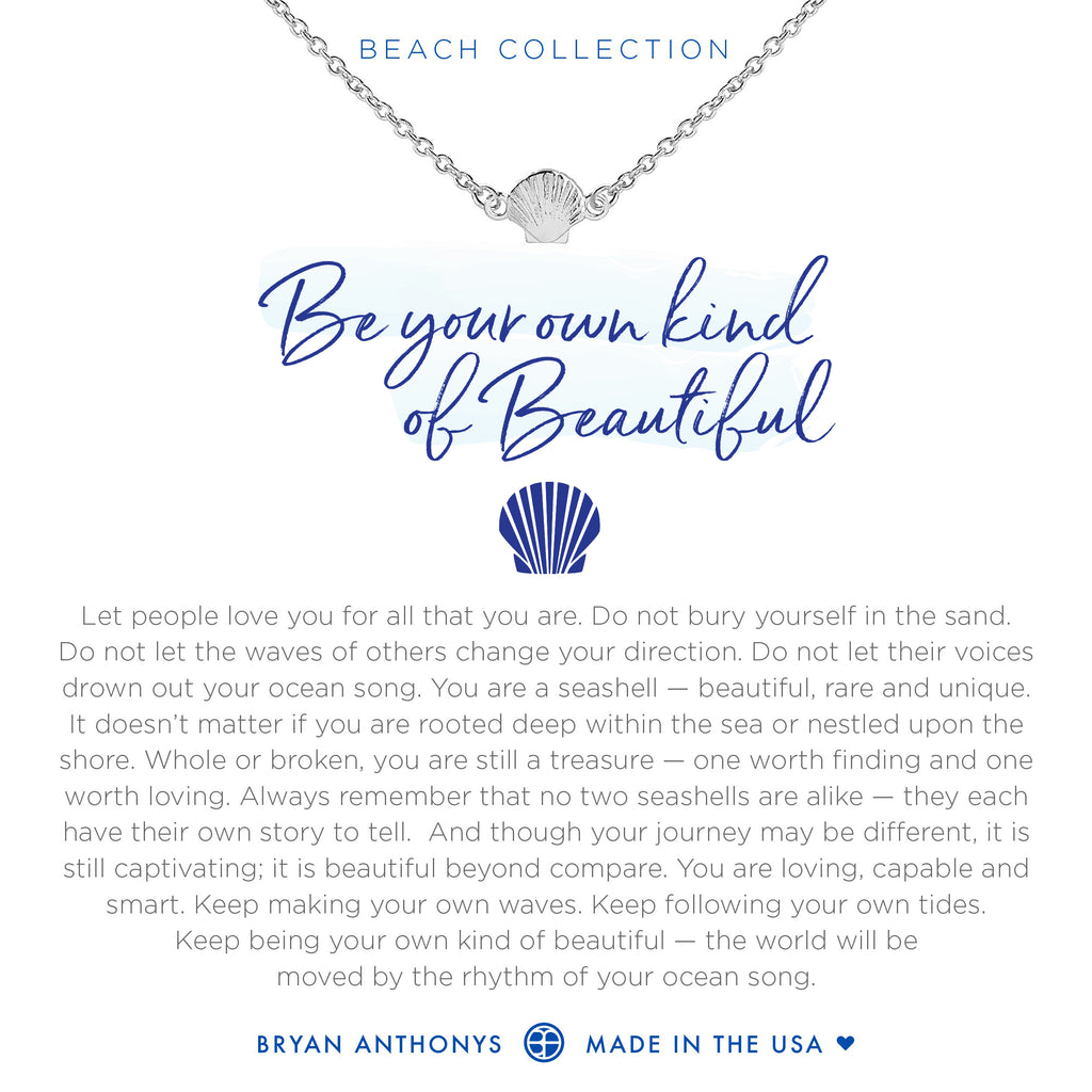 Bryan Anthonys seashell anklet be your own kind of beautiful silver