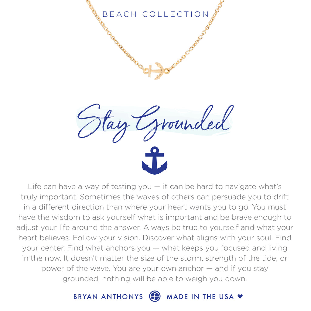 Bryan Anthonys dainty anchor anklet stay grounded 14k gold