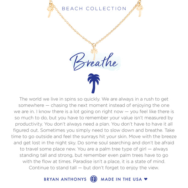 Bryan Anthonys dainty palm tree breathe anklet 14k gold