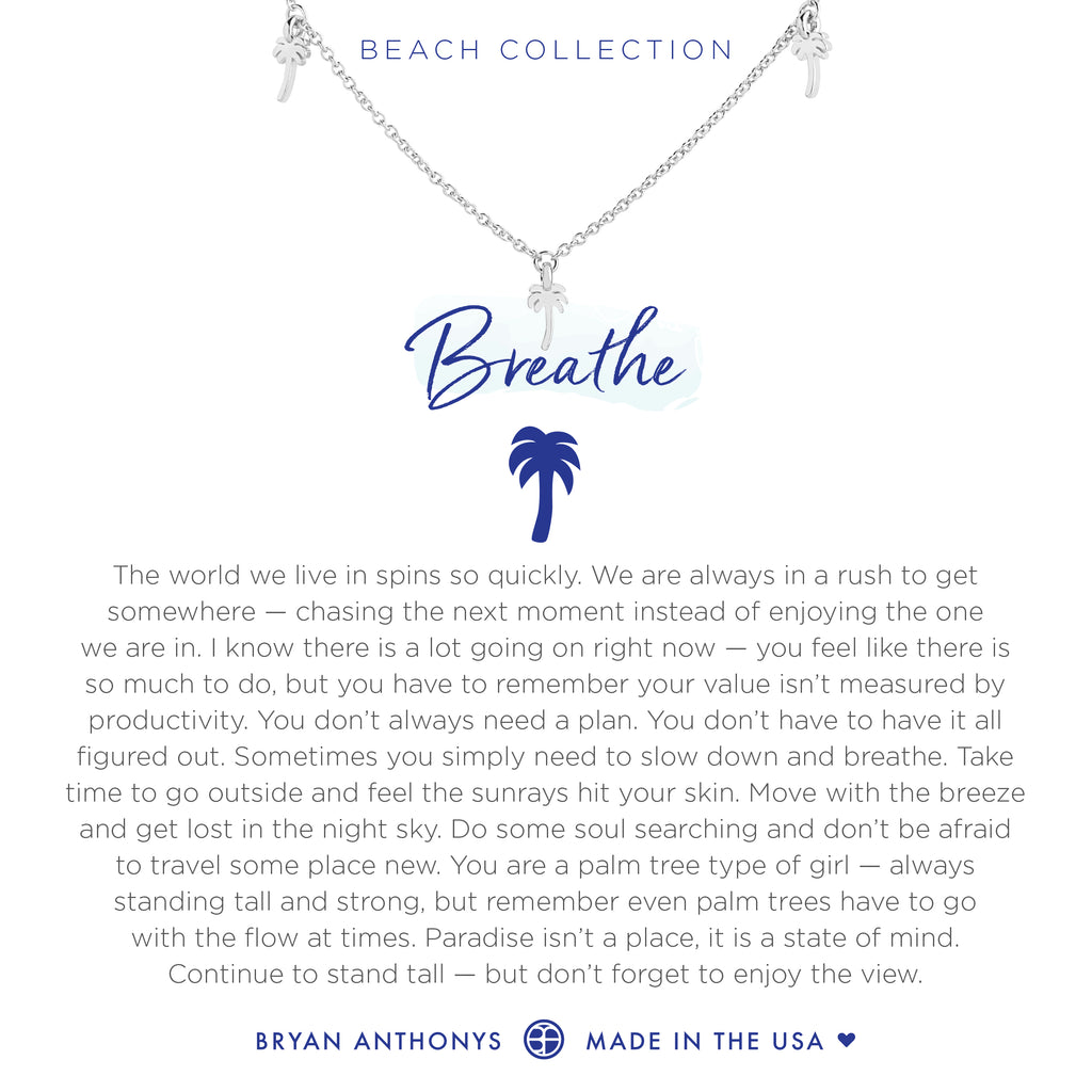 Bryan Anthonys dainty palm tree breathe anklet silver