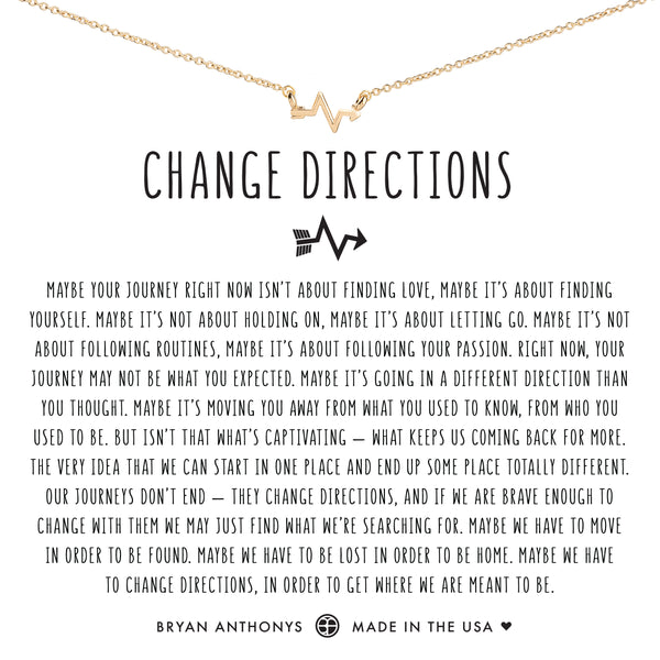 Bryan Anthonys Dainty change directions Necklace 14k Gold