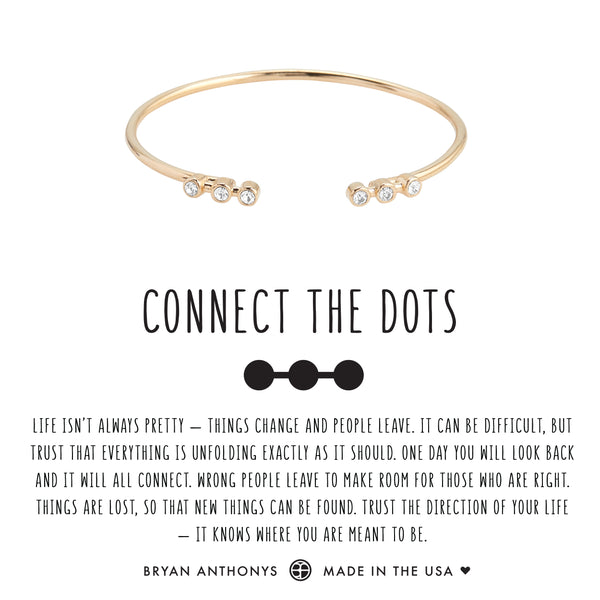 bryan anthonys dainty connect the dots cuff 14k gold