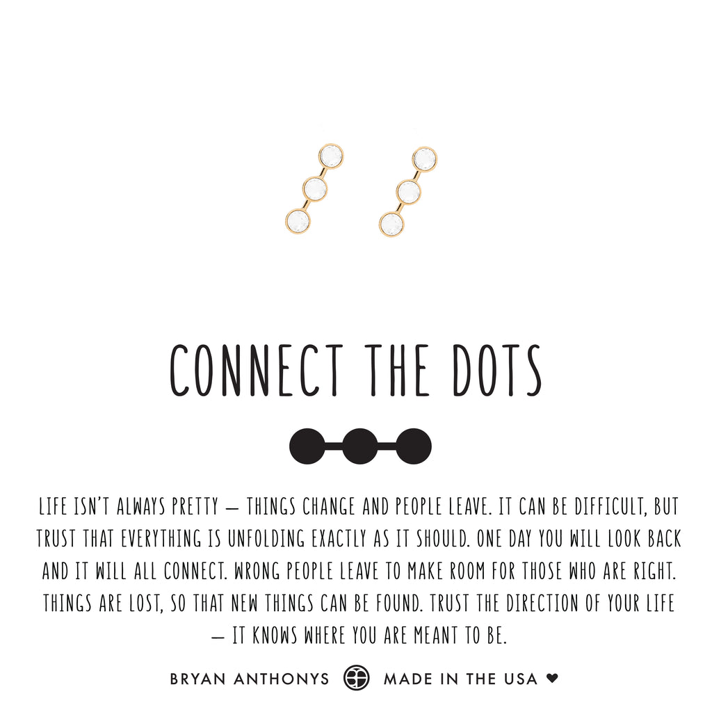bryan anthonys dainty connect the dots earrings crystal 14k gold