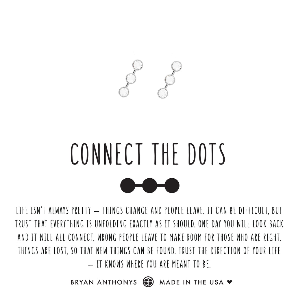 bryan anthonys dainty connect the dots earrings crystal silver