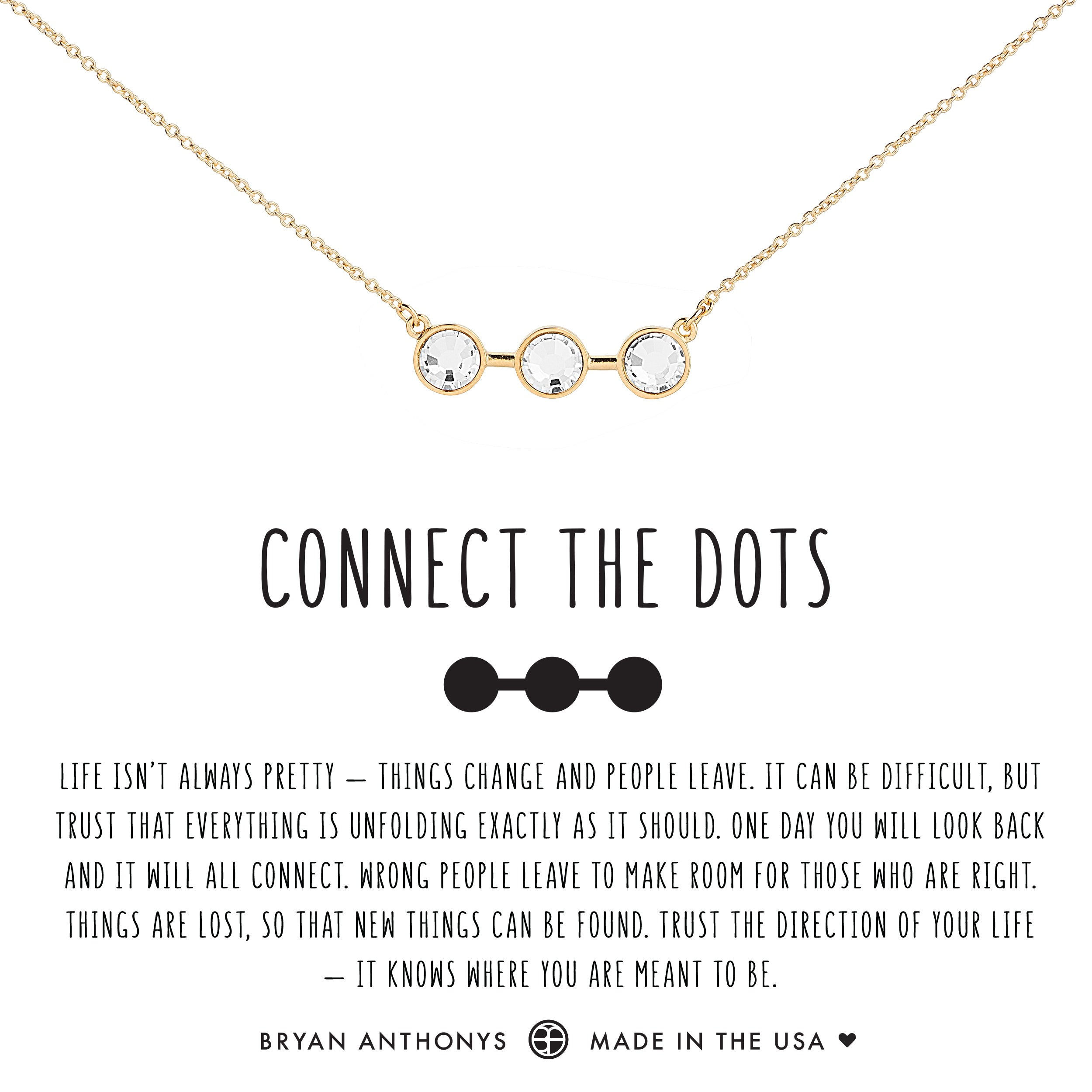 eeb249b3c Bryan Anthonys dainty connect the dots necklace 14k gold crystal