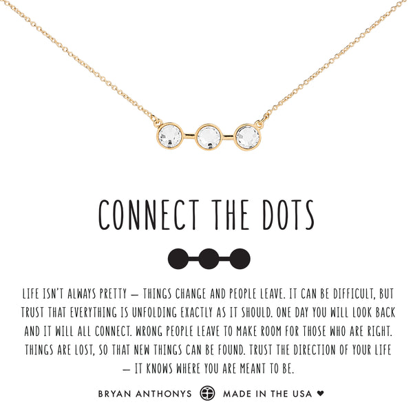 Bryan Anthonys dainty connect the dots necklace 14k gold crystal