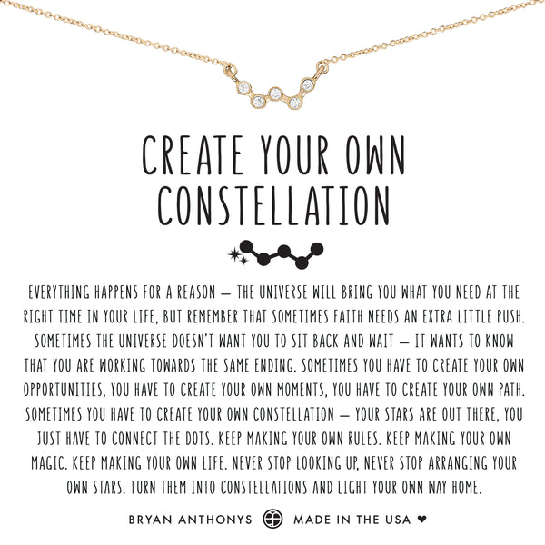 Bryan Anthonys dainty create your own constellation necklace 14k gold