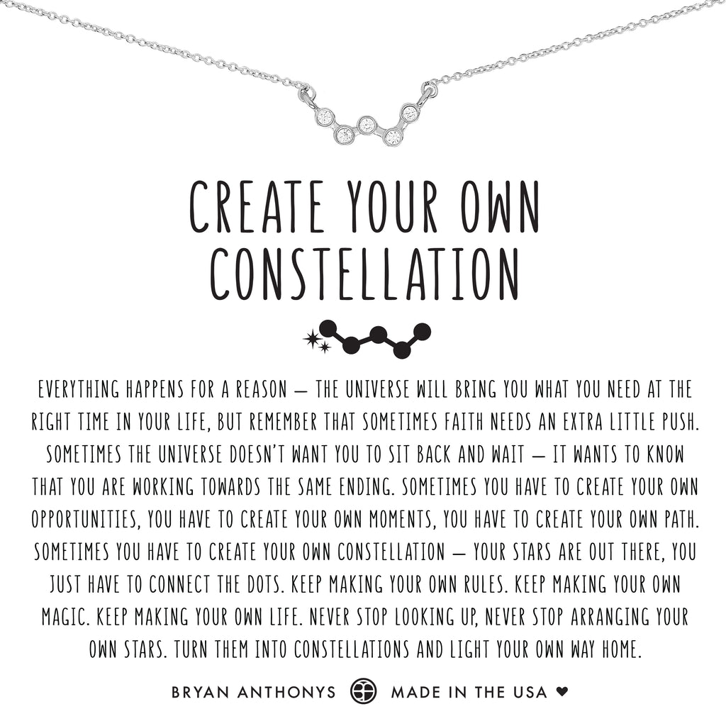 Bryan Anthonys dainty create your own constellation necklace silver