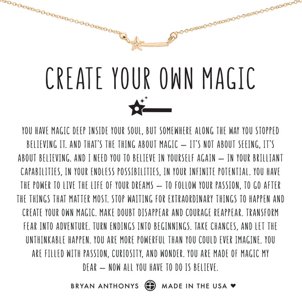 Bryan Anthonys dainty create your own magic wand necklace 14k gold