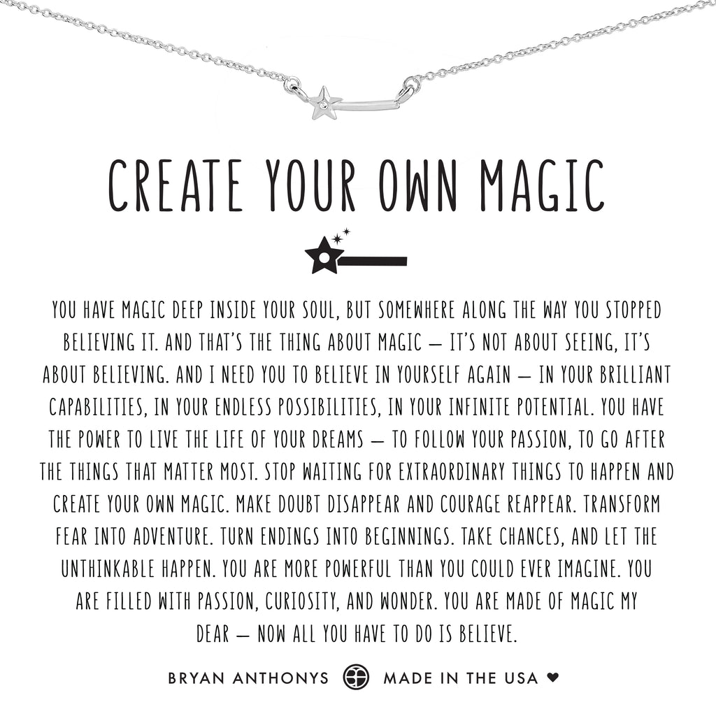 Bryan Anthonys dainty create your own magic wand necklace silver