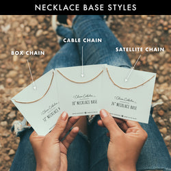 bryan anthonys charm collection various necklace chain style bases on cards