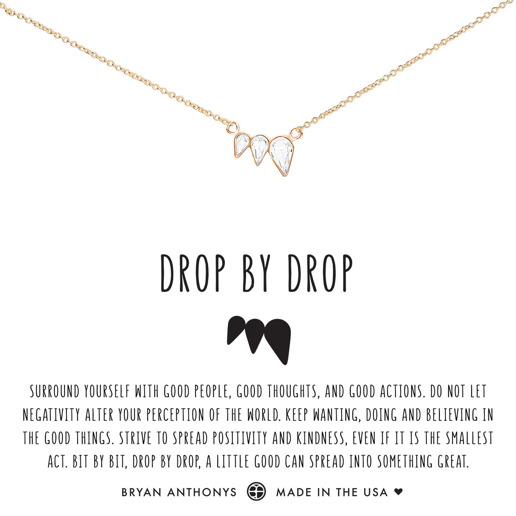 Bryan Anthonys dainty drop by drop necklace 14k gold