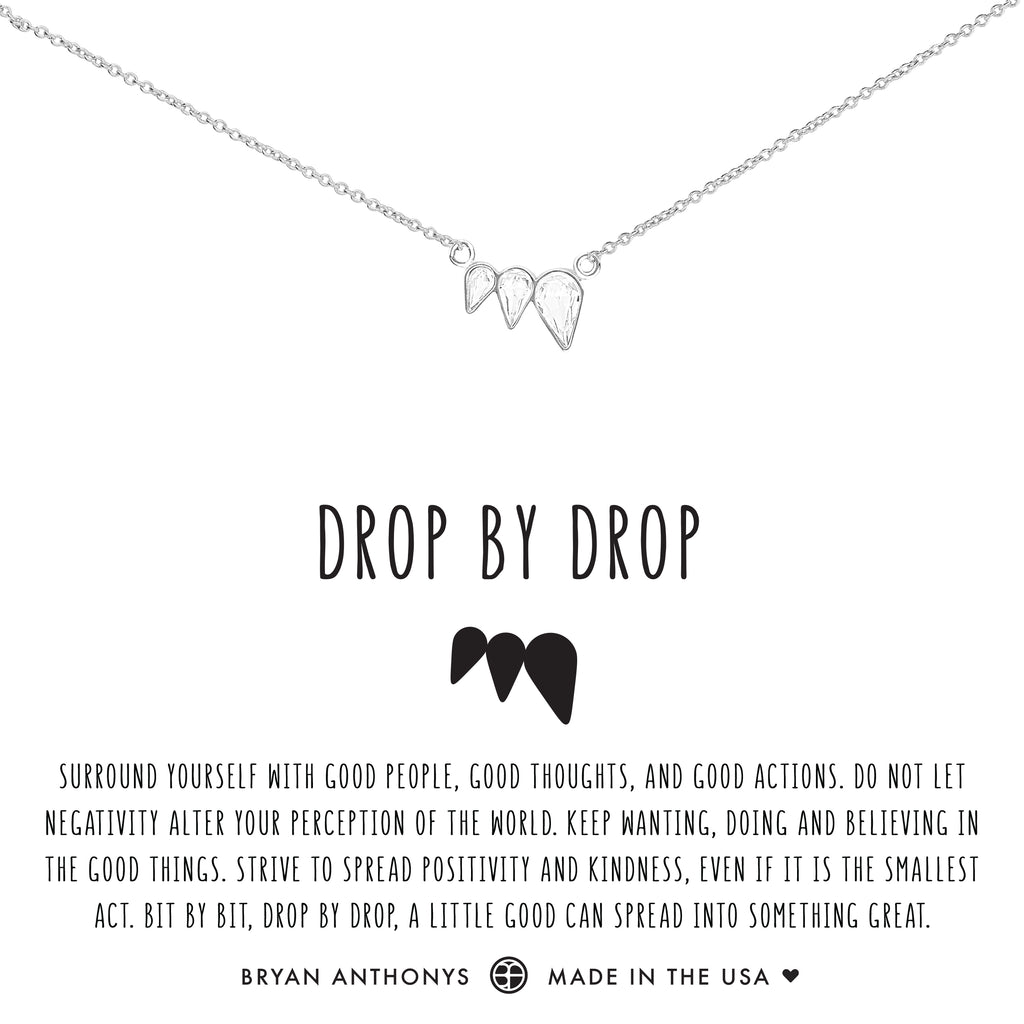 Bryan Anthonys dainty drop by drop necklace silver