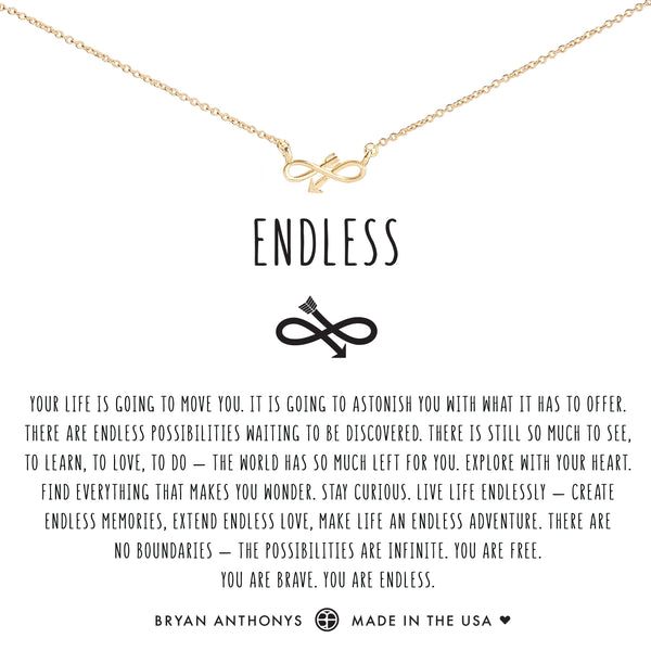 Bryan Anthonys dainty infinity endless arrow necklace 14k gold