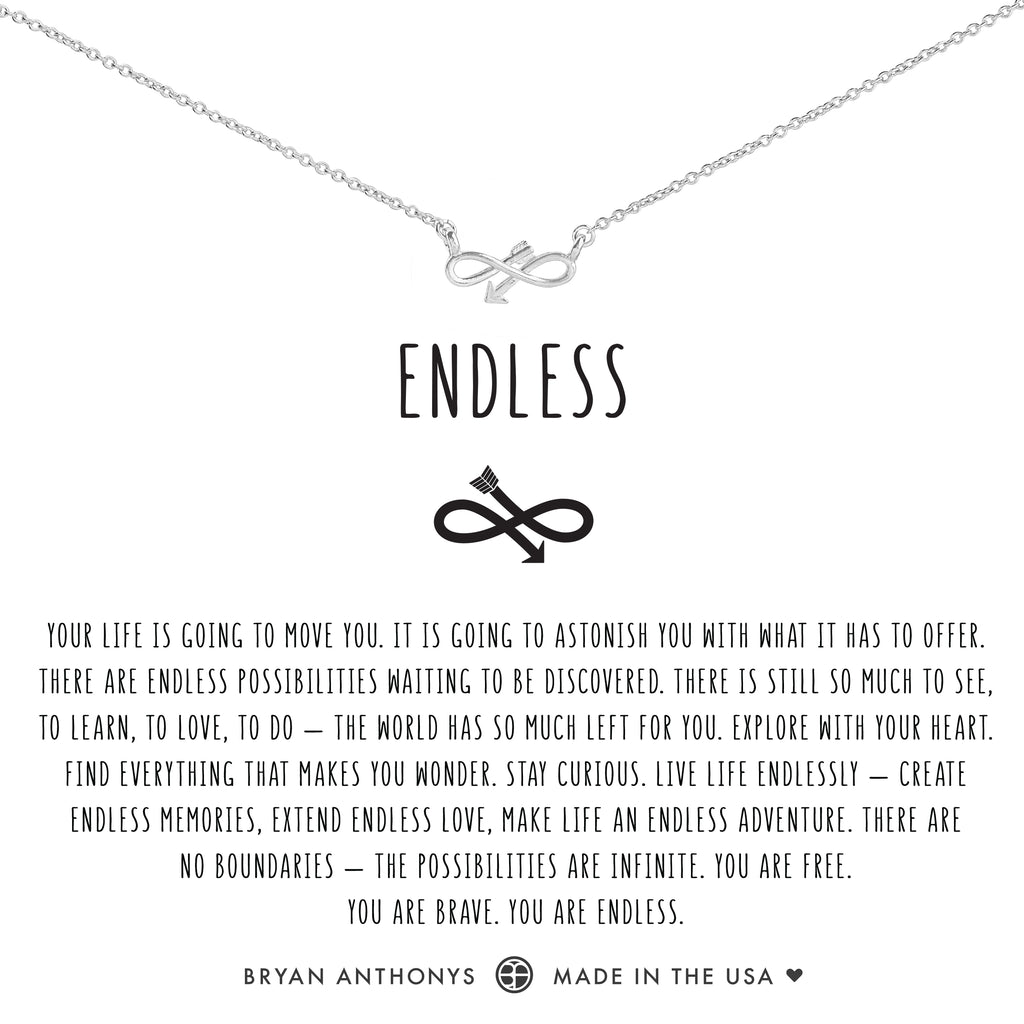 Bryan Anthonys dainty infinity endless arrow necklace silver
