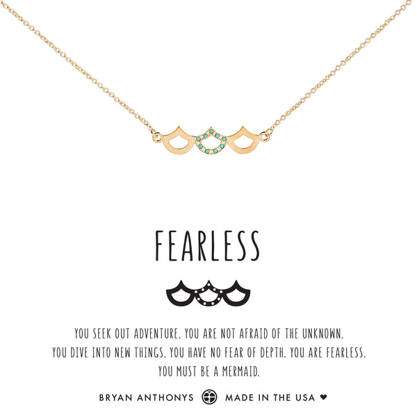Bryan Anthonys dainty fearless mermaid necklace 14k gold