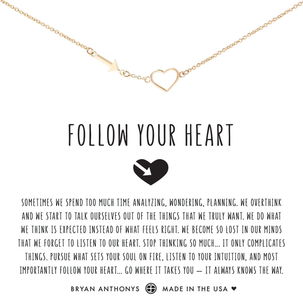 Bryan Anthonys dainty follow your heart necklace 14k gold