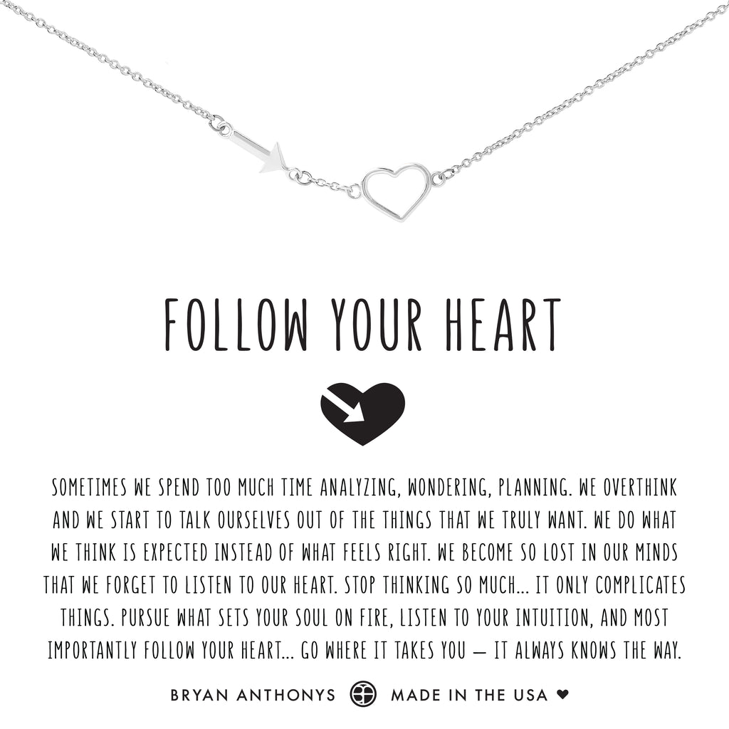 Bryan Anthonys dainty follow your heart necklace silver