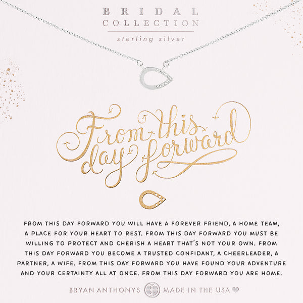 Bryan Anthonys From This Day Forward necklace sterling silver