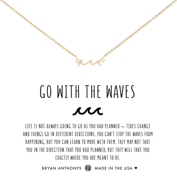 Bryan Anthonys dainty go with the waves anklet 14k gold
