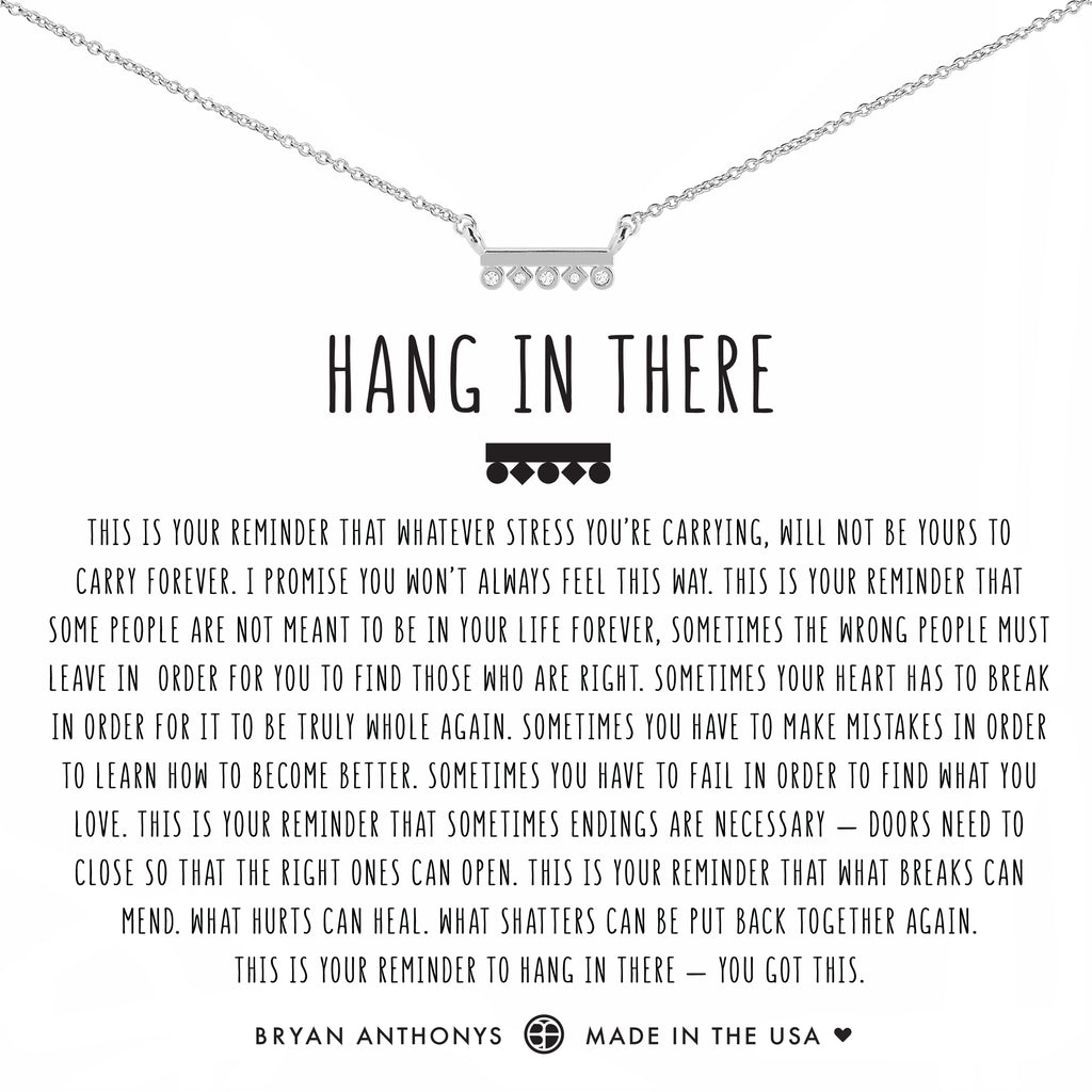 Bryan Anthonys dainty hang in there necklace silver